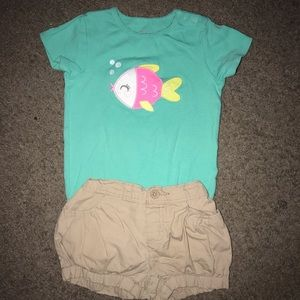Shirt and matching shorts size 18-24 Months